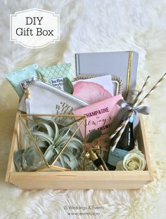 DIY Gift Box or Bridesmaid's Gift  #GiftBox