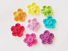 Flower Girl Crochet 4x Crochet Stitch=double treble