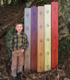 Designer Wooden Ruler Growth Chart