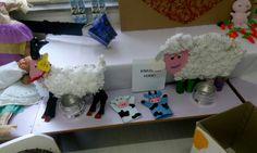 Okul öncesi süt projesi #keçi #koyun #inek #eşek sanat etkinliği #kukla