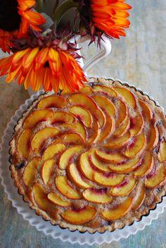 Blueberry Peach Frangipane Tart