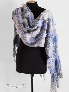 "Wrap felted ""Delicate-lilac"" by SaniyaK on Etsy"
