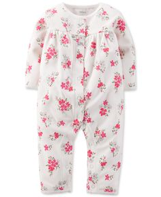 Carter's Baby Girls' Floral Print Coverall - Baby Girl (0-24 months) - Kids & Baby - Macy's