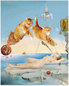 Famous Works of Art Improved by Cats13
