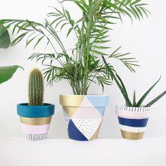 Pastel Triangle Plant Pot - 15cm