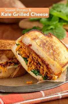 Try an easy vegetarian recipe with our Sweet Potato and Kale Grilled Cheese Sandwiches.