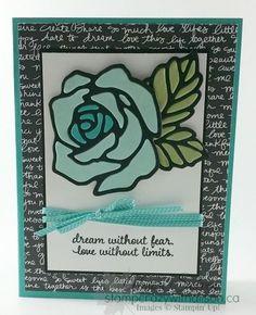 Rose Garden Thinlits Dies Picture Perfect Stamp Set www.stampcrazywithalison.ca