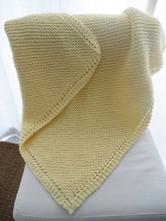 LuluKnits: Diagonal Garter Stitch Blanket :: adapt pattern for cowl on straight needles