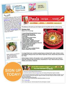 Cooking with Paula Deen Newsletter Paula Deen, Best Dishes, Healthy Eating Tips, Dean, Cooking Tips, Favorite Recipes, Tv, Friends, Kitchen