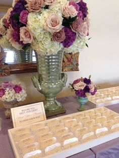 Gorgeous crystal escort cards http://www.theeventessentials.com/