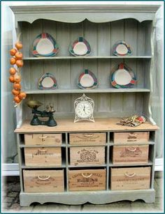 easily turn shelves into drawers with crates!