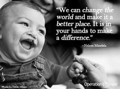 Big or small, how will you make a difference in someone else's life?  Visit www.operationsmile.org to find out how you can help change the life of a child born with a cleft lip, cleft palate or other facial deformity. #socialgood #change #smile #makeadifference