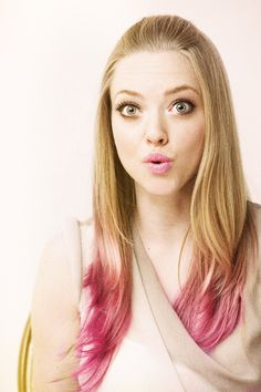 matching pink tips and lips <3