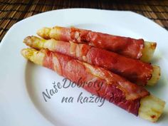 Hot Dogs, Sausage, Meat, Ethnic Recipes, Food, Asparagus, Sausages, Essen, Meals