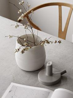 wishbone, concrete, kajsa cramer and lovatt ceramics