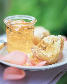 """See the """"Rose Petal Jelly"""" in our Jam, Preserves, and Jelly Recipes gallery Jelly Recipes, Jam Recipes, Canning Recipes, Canning Tips, Water Recipes, Drink Recipes, Cooker Recipes, Rose Petal Jelly Recipe, Jam And Jelly"""