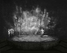 """"""" Die Walküre """" 3.Aufzug 1956 Wieland Wagner Bühnenphoto"""