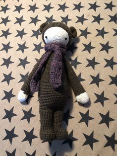 BINA the bear made by Heidi M. / crochet pattern by lalylala
