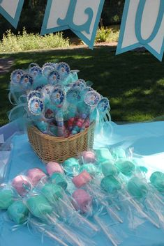 Frozen Girl Birthday Party treats!  See more party planning ideas at CatchMyParty.com!
