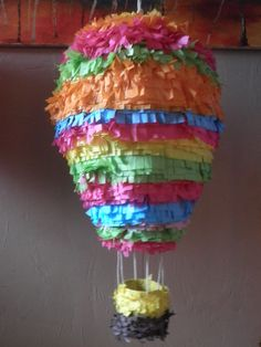 Great Pinata for Hot Air Balloon Themed Party!