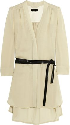 Isabel Marant Rivera Belted Voile Mini Dress #ivory #dress #fashion #chic