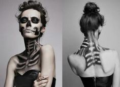 October is approaching in slow steps, including Halloween, pumpkins, candles, sweets and many great costumes. With the 22 examples in this article for a spooky Halloween make-up you have the opportuni Halloween Music, Halloween Makeup Looks, Halloween Diy, Halloween Costumes, Halloween Stuff, Vintage Halloween, Skeleton Face Makeup, Skull Makeup, Halloween Gesicht