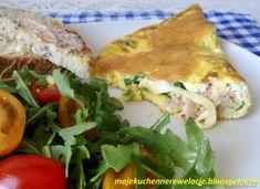 Menu Wędrowca Starego  i nie tylko.: Francuski omlet z szynką i serem