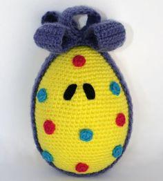 Easter egg Amigurumi Pattern crochet pattern by Patanegra on Etsy.