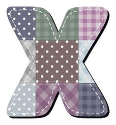 Buchstabe / Letter - X (Patchwork / Quilt)