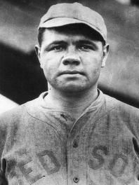 Babe Ruth - I LOVE this picture. This was the beginning of the Red Sox curse. The owner of the Red Sox sold Babe to the Yankees in order to fund his theatrical endeavors.