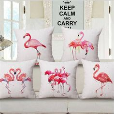 f6af4c53f Add a great conversation piece with bright and pink flamingo throw pillows  that will surely liven