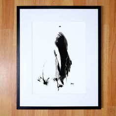 Giclee print multiple sizes. Black and white by PaulMaguireArt
