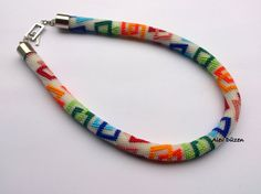 Bead Crochet Necklace  Colorful Squares Beaded by alevduzen