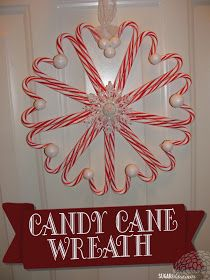 Today I'm sharing a quick and easy Christmas craft that looks fabulous!   DIY CANDY CANE WREATH   My friend Vicki introduced me to the fini...