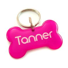 Pink Dog Bone Pet Id Tag from Happy Tags for $20 on Square Market