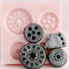 Gears Steampunk Food Safe Mold  Fondant gear mold by MoldMeShapeMe, $5.75
