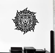 Wall Decal Celtic Patterns Irish Wolf Ireland Room Art Vinyl Stickers (ig2914)