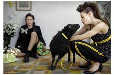 """ Kiss me "" "" la oveja negra de la familia "" by Sara Zorraquino #sheep #blacksheep #family #miriamarruga stylist #sarazorraquino photo #Spain #Barcelona #vanidad #fashion"