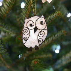 Quizzical Owl Ornament