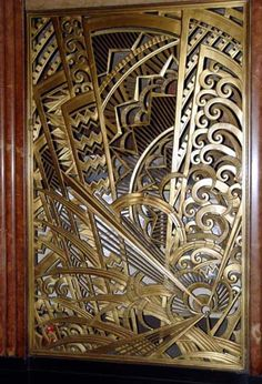 Art Nouveau Metal Work | Bronze gates leading to Irwin Chanin's offices, designed with symbolic ...
