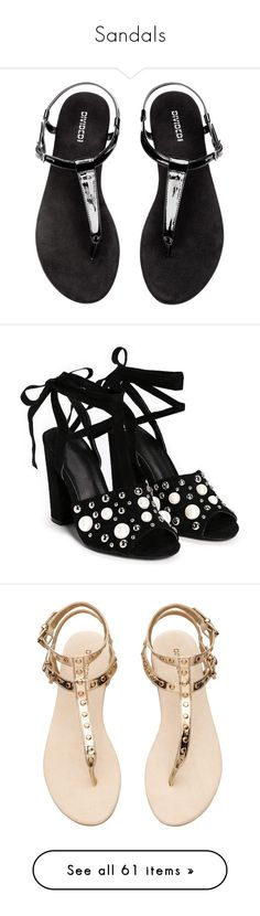 """""""Sandals"""" by lizf99 ❤ liked on Polyvore featuring shoes, sandals, gummy shoes, open toe heel sandals, nasty gal sandals, open toe sandals, block heel sandals, studded sandals, synthetic leather shoes and vegan shoes"""