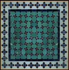 moroccan - maybe I could paint the basement floor with a pattern like this over the tile.