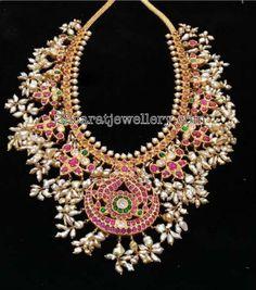 Guttapusalu Necklace with Burmese Rubies - Jewellery Designs