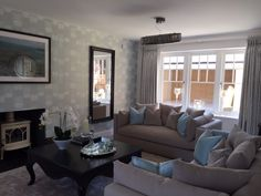 Cosy and comfy living space at Orchard Brook, ideal for gathering around with family and friends. Long Melford, New Homes For Sale, Cosy, Living Spaces, Interiors, Friends, Furniture, Home Decor, Amigos
