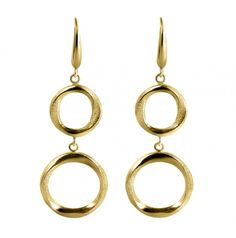 Abby's Gold and Gems | » 18K Yellow Finish Dangle Tanya Earrings