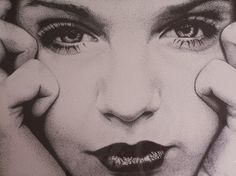 This pointilism portrait by artist Joe aka Casa-nova took over 50 hours to complete