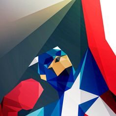 Geometric captain America