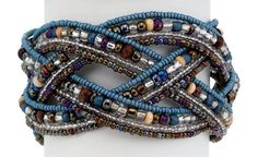 Blue Beaded Ajustable Braided Cuff World End Imports. $9.99. Blue Beaded Braided Cuff. Adjustable