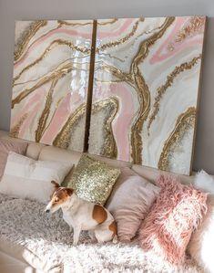 Blush pink resin artwork in 2019