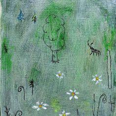 【muranagi】さんのInstagramをピンしています。 《#ムラナギ作品 No.1010 森 2014 F0 (14.0cmx18.0cm) 森が呼んでいます、あの日のままで……僕らの生まれた森が。 #art #artist #artwork #painting #illustration #drawing #acrylic #paint #woods #nature #dream #moon #forest #animal #creature #river #絵画 #森 #生き物 #月 #動物》